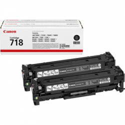 Canon 718BK 2 pack original...